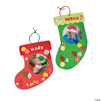 Holiday Picture Frame Christmas Stocking Ornament Craft Kit
