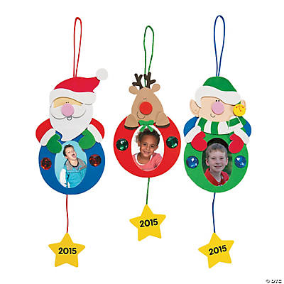 2015 holiday picture frame ornament craft kit oriental for Photo frame ornament craft
