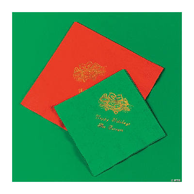 Holiday Printed Red Lunch Napkins