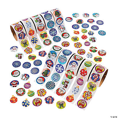 Holiday Rolls of Stickers Assortment - 10 rolls