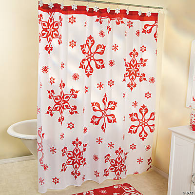 Holiday Snowflake Shower Curtain Oriental Trading Discontinued