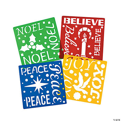 Holiday Word Stencils