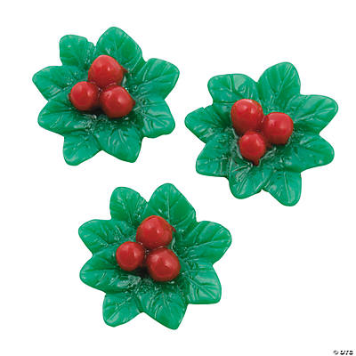 Holly Cabochons - 20mm