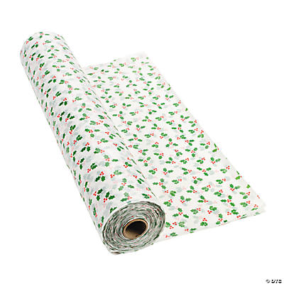Holly Print Tablecloth Roll