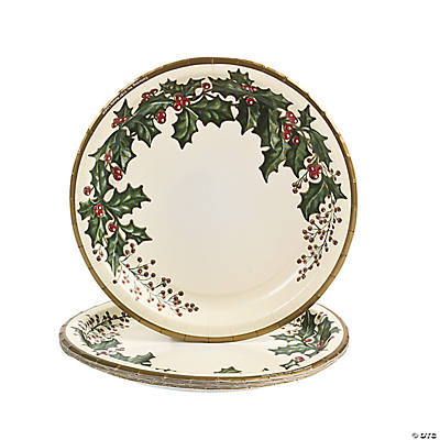 Holly Winter Banquet Plates