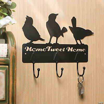 """Home Tweet Home"" Wall Décor with Hooks"