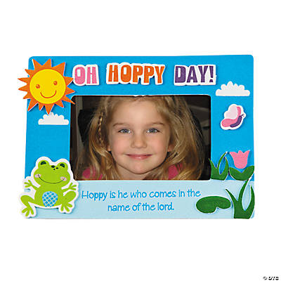 Hoppy is He Picture Frame Magnet Craft Kit