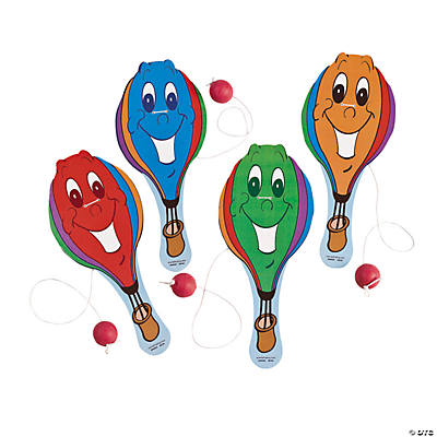 Hot Air Balloon-Shaped Paddleball Games