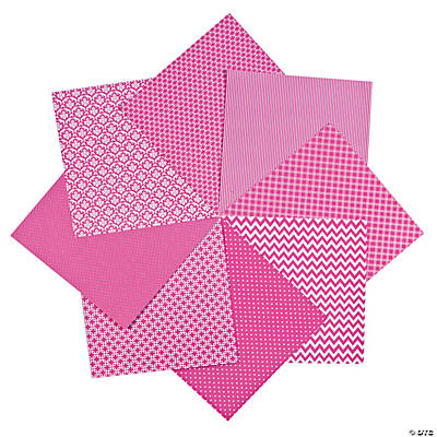 "Hot Pink Monochromatic Paper Pack - 12"" x 12"""