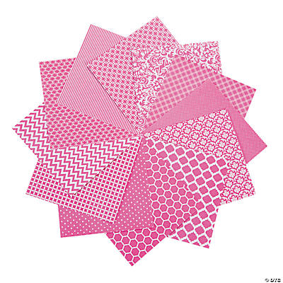 "Hot Pink Monochromatic Paper Pack - 6"" x 6"""