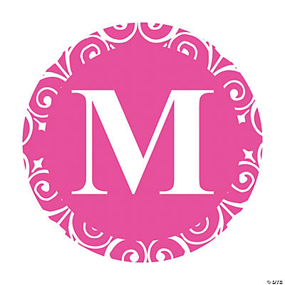 Hot Pink Personalized Monogram Wedding Favor Stickers
