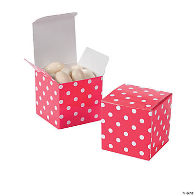 Hot Pink Polka Dot Gift Boxes