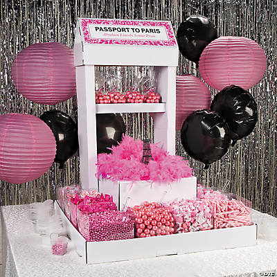 Pink Wedding Candy Buffet Idea