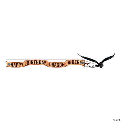 How to Train Your Dragon 2 Birthday Plastic Banner