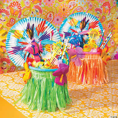 Hula Skirt Favor Bags