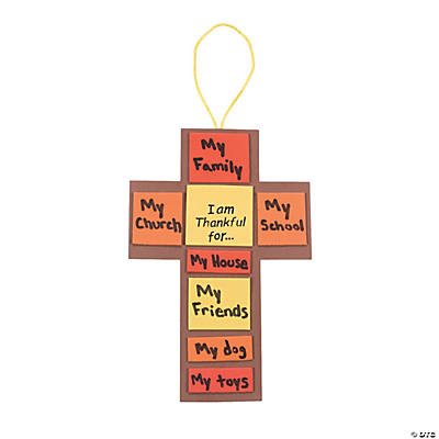 """I Am Thankful For..."" Fall Cross Craft Kit"
