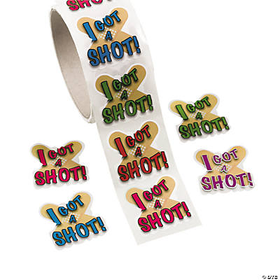 I Got A Shot Stickers Oriental Trading Discontinued