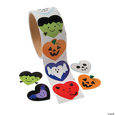 I Heart Halloween Roll Stickers