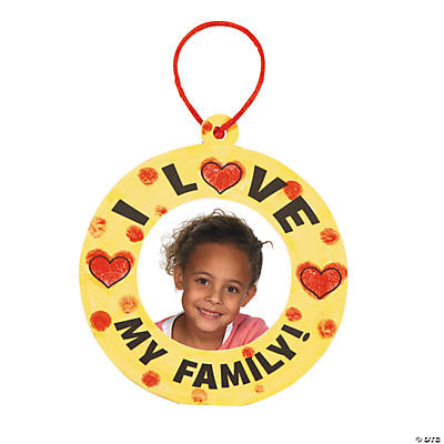 """I Love My Family"" Thumbprint Christmas Ornament Craft Kit"