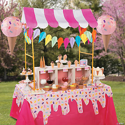 ice cream party tablescape idea - Baby Shower Tablescapes Ideas