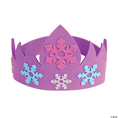 ice princess crown headband craft kit oriental trading
