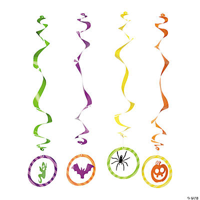 Iconic Halloween Hanging Swirls