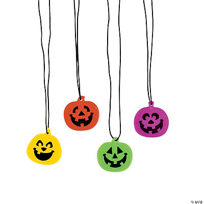 Iconic Halloween Jack-O'-Lantern Necklaces