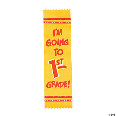 Im Going to 1st Grade Graduate Ribbons  Oriental Trading