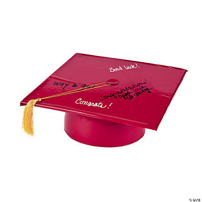 Inflatable Burgundy Autograph Graduation Cap
