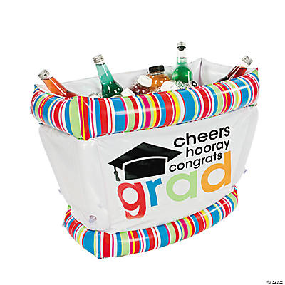 "Inflatable ""Cheers To the Grad"" Tub Cooler"