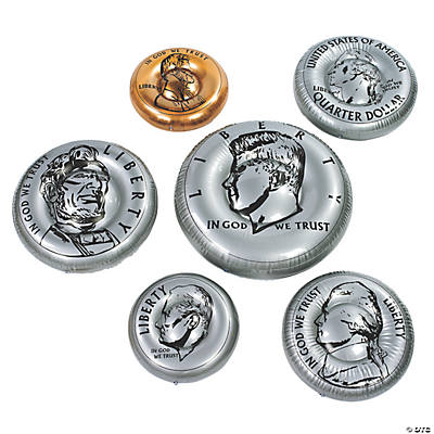 6 Inflatable Coins