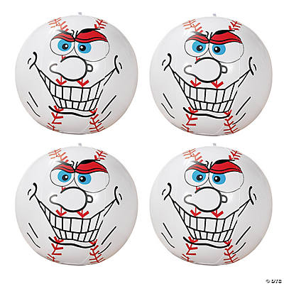 Inflatable Crazy Face Baseball Beach Balls