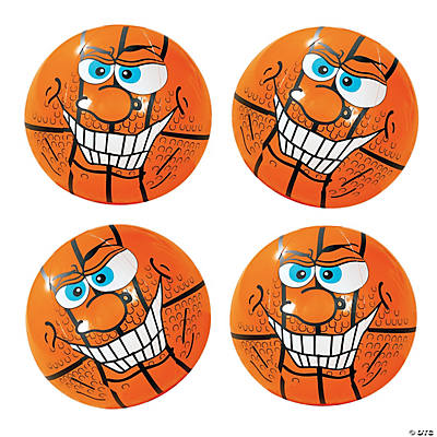 Inflatable Crazy Face Basketball Beach Balls
