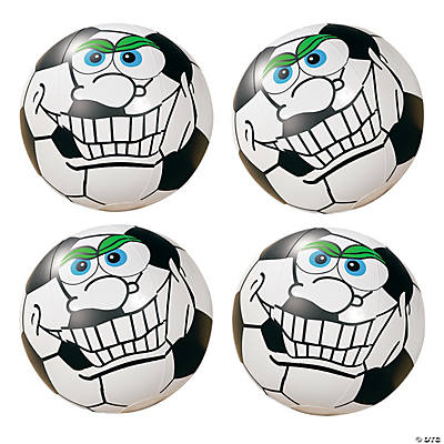 Inflatable Crazy Face Soccer Beach Balls