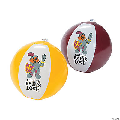 "Inflatable ""Mighty Kingdom"" Mini Beach Balls"