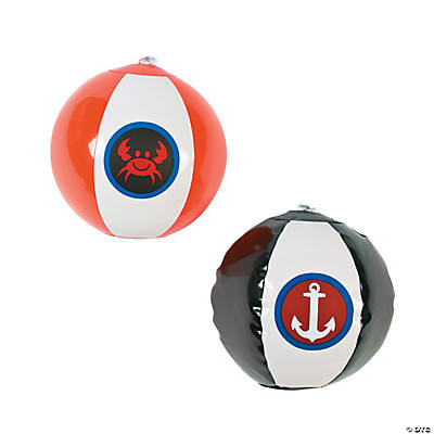 Inflatable Mini Nautical Beach Balls