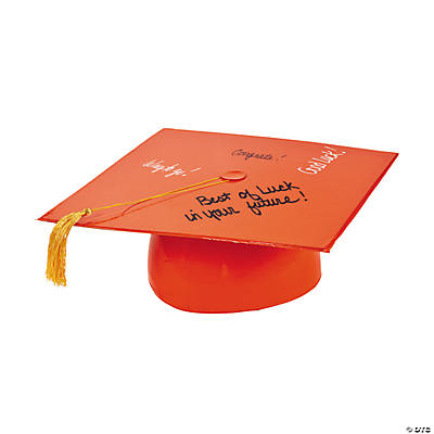 Inflatable Orange Autograph Graduation Cap