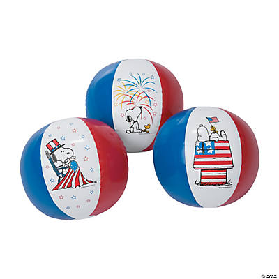 Inflatable Peanuts® Patriotic Beach Balls