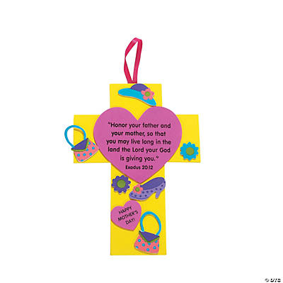 Inspirational Mother's Day Crosses Craft Kits - Oriental ...