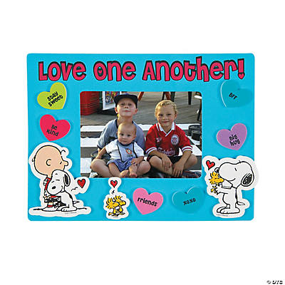 Inspirational peanuts valentine picture frame magnet for Inspirational valentine crafts