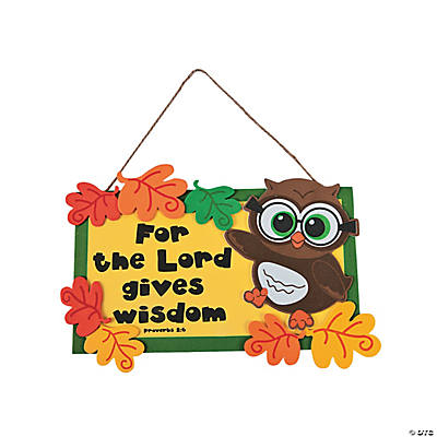 Inspirational Wise Owl Sign Craft Kit