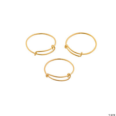 Inspiring Charms Expandable Rings - Goldtone