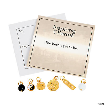 Inspiring Goldtone Om Charms with Inspirational Tag