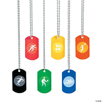 International Games Dog Tag Necklaces