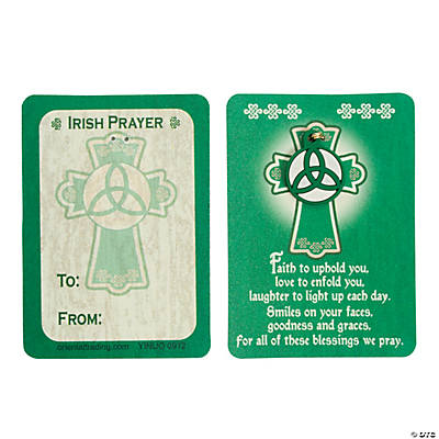 Irish Blessing Wallet Cards with Charm