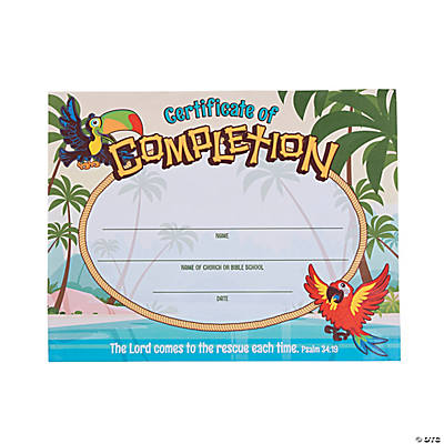 Island VBS Certificates of Completion