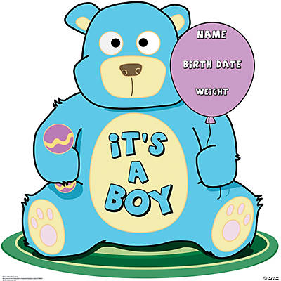It's A Boy Teddy Bear Stand-Up