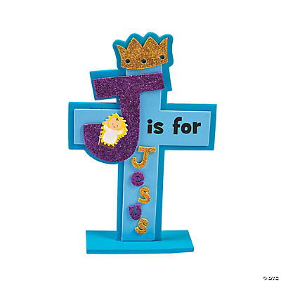 J is for Jesus Stand-Up Cross Craft Kit