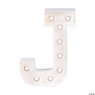 """J"" Marquee Light-Up Kit"