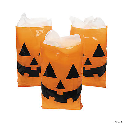 jack o lantern halloween trick or treat bags - Halloween Treat Holders